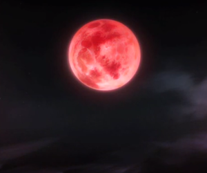 anime, background, and moon image