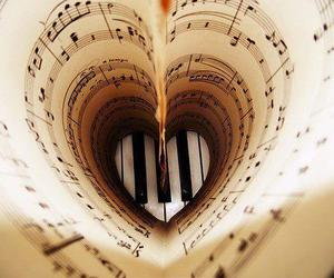 music, piano, and heart image