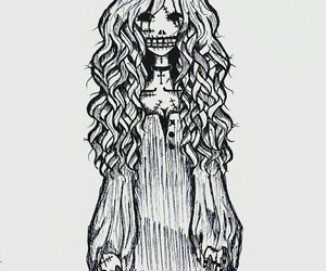 doodle, drawing, and scary image