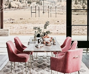 interior, home, and pink image