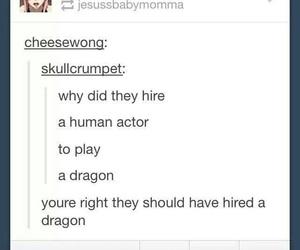actor, tumblr, and dragon image
