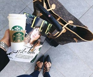 starbucks, coffee, and Elle image
