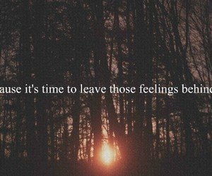 quote, feelings, and leave image