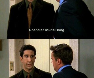 friends, chandler, and funny image