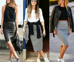 fashion, long skirt, and style image