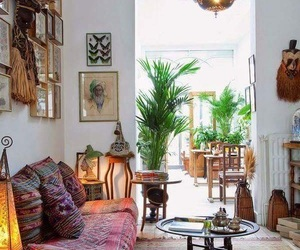 bohemian, home, and interior image