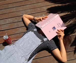 book, girl, and summer image
