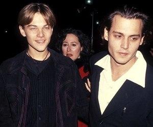 leonardo dicaprio, johnny depp, and boy image