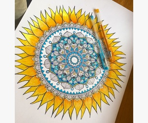 blue, drawing, and flower image
