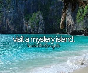 Island, bucket list, and mystery image
