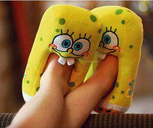 image, spongebob, and slippers image