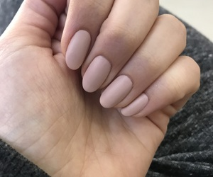 matte, nails, and Nude image
