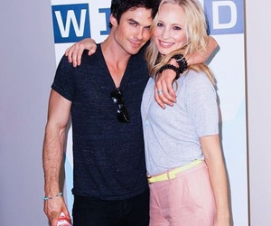 ian somerhalder, candice accola, and candice king image