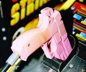 game, gun, and pink image