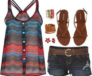 beach, clothes, and spring image
