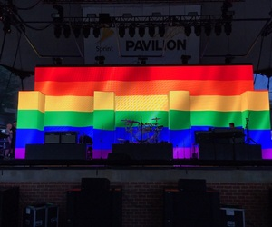 the 1975 and rainbow image