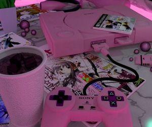 pink, anime, and game image