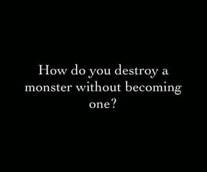 black and white, destroy, and monster image