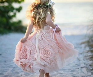 cute, flowers, and flower girl dress image