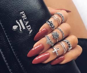 nails, Prada, and rings image
