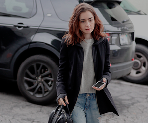 lily collins and outfit image