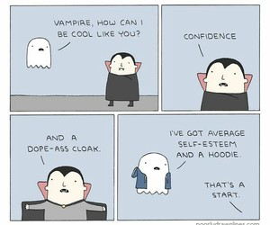 funny, vampire, and ghost image