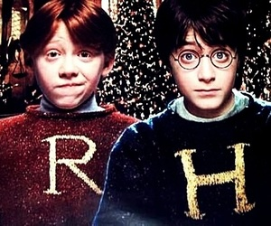 harry potter, ron weasley, and harry image