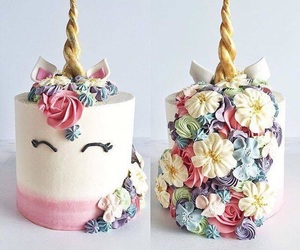 cake, unicorn, and food image