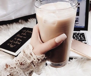 drink, coffee, and nails image