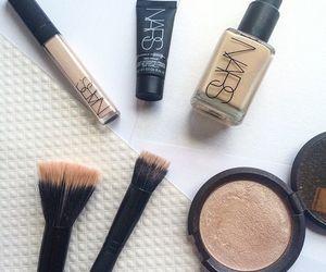 cosmetics, girl, and makeup image