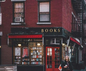 architecture, books, and store image