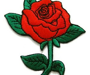 green, overlay, and rose image
