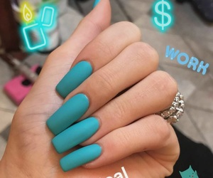 nails, kylie jenner, and blue image
