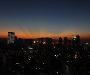 city, city lights, and manila image