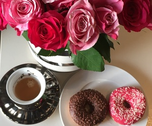 beautiful, coffee, and donuts image
