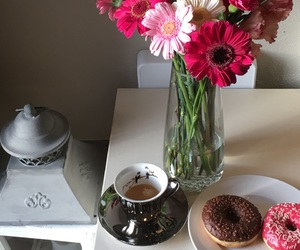 beautiful, coffee, and donut image