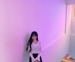 asian, neon, and purple image