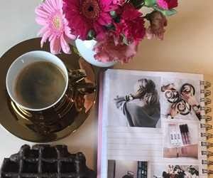 beautiful, coffee, and flower image
