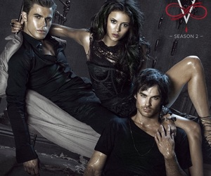 ian somerhalder, Nina Dobrev, and the vampire diaries image