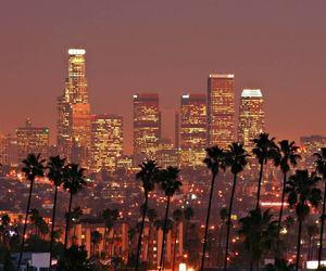 light, city, and la image