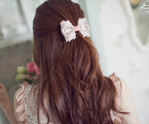 bow, hair, and lace image