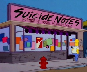 the simpsons, grunge, and pale image