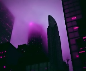 city, pink, and purple image
