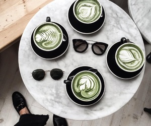 drink, coffee, and green image