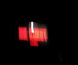 blurry, red, and robot image