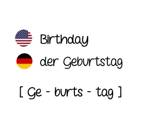 birthday, german, and geburtstag image