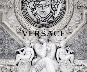 marble, Versace, and wallpaper image