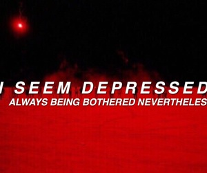 alone, depressed, and depression image