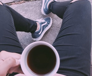 coffee, goals, and ripped jeans image