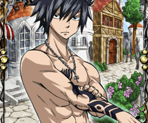 card, fairy tail, and gray fullbuster image